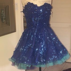 Jovani blue homecoming dress